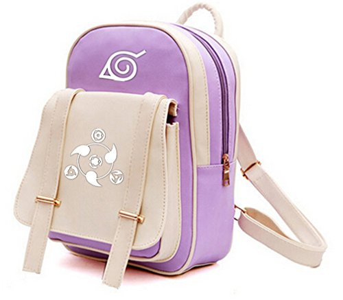 YOYOSHome Anime Naruto Cosplay PU Luminous Shoulder Bag Backpack School Bag