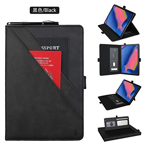 Yhuisen Premium PU Leather Double Stand Tablet Case Cover Compatible with Samsung Galaxy Tab A 8.0 inch 2019 SM-P200/SM-P205 (Color : Black)