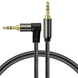 Mediabridge 3.5mm Male To Male Right Angle Stereo Audio Cable (2 Feet) - 90° Connector For Flush Connections - Step Down Design for Smartphone, Tablet & MP3 Cases - (Part# MPC-35RA-2 )
