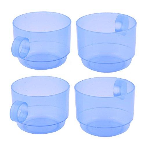 Accueil Salle bains porte-brosse à dents Dentifrice contenant Plastique tasse 170 ml bleu 4pcs