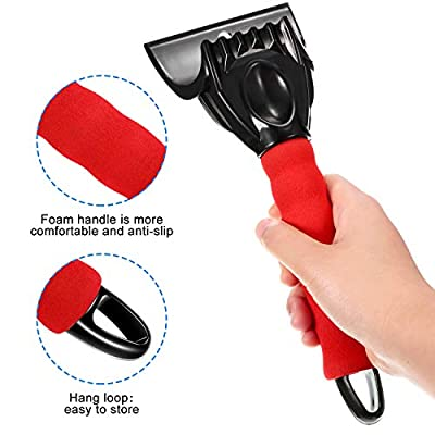 3 Pieces Car Ice Scrapers Snow Scraper Frost Snow Removal Tool for Car Window and Windshield Scratch-free with Foam Handle Suitable for Car Small Trucks and Other Cars Use in Most Winter Conditions: Automotive