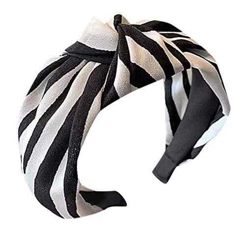 Yucode Women's Striped Printing Cross Knot Hair Hoop Fashion Stretchy Magic Headband Hair Band ()