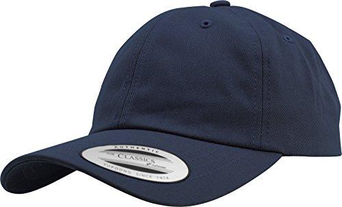Flexfit Gorra de Béisbol Yupoong Algodón Unisex para Hombre y Mujer, no Rígida con Cierre de Latón azul marino