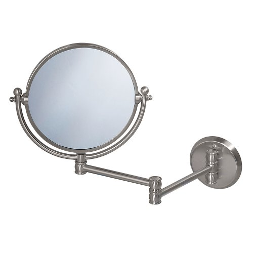 Gatco 1408 Wall Mount Mirror with 14-Inch Swing Arm Extents,