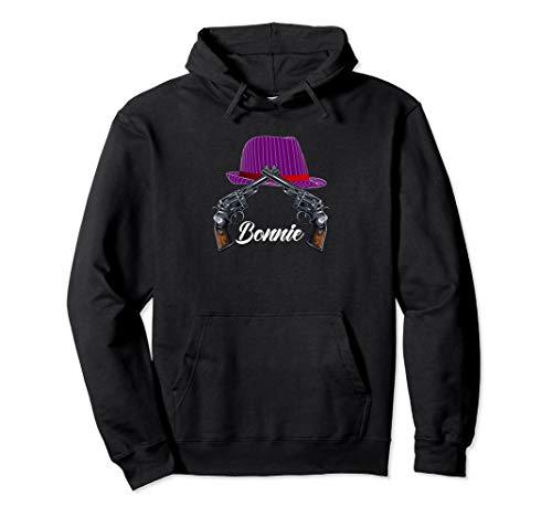 Mrs Bonnie Halloween Costume Hoodie Easy Couples Gangsters -