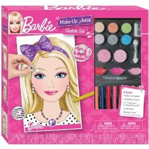 Barbie Make-Up Artist With 6 Eye Shadow Colors, 2 Cheek Colors, 3 Lip Colors, And 2 Make-Up Brushes Toy / Game / Play / Child / Kid: Amazon.co.uk: Toys & ...
