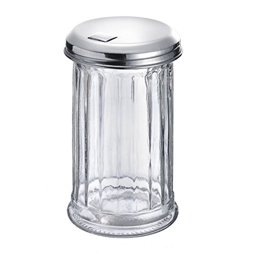 Westmark Germany 'New York' Glass Sugar Dispenser with a Flap Top, Stainless Steel by Westmark (Image #3)