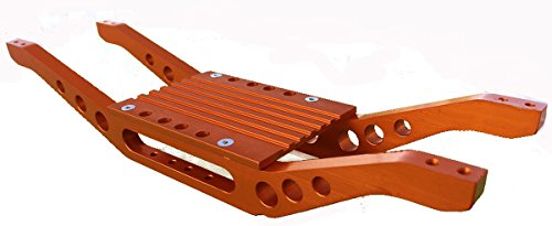 (RC Raven T-Maxx 4907 or 4908 Orange Anodized Aluminum bottom braces with free trans cover)