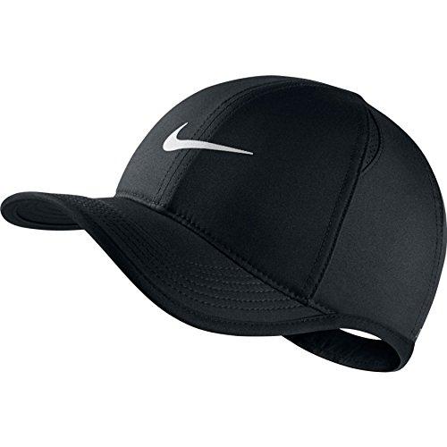 Nike Youth Aerobill Featherlight Cap, Black/Black/White, Misc by Nike