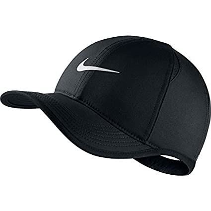 00439d60 Amazon.com: Nike Youth Aerobill Featherlight Cap, Black/Black/White ...