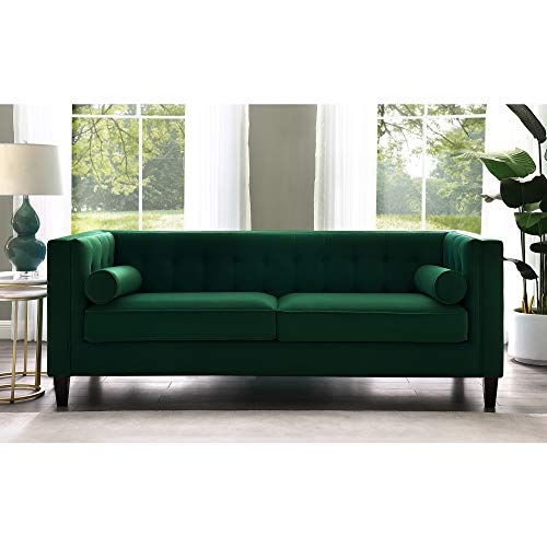 Amazon.com: Inspired Home Green Velvet Sofa - Design: Lotte ...