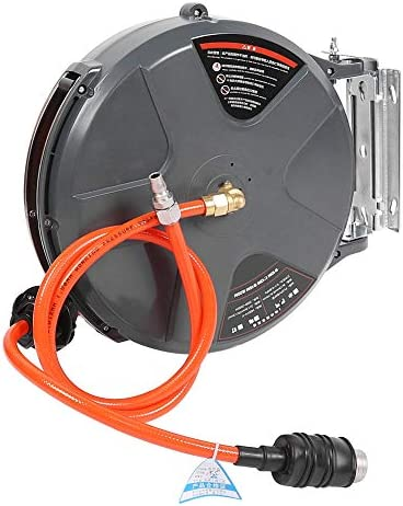 Gorgeri PU Air Hose Reel,39.4ft Air Hose Reel Retractable Spring Heavy Duty Industrial Auto Repairing Pneumatic Tool