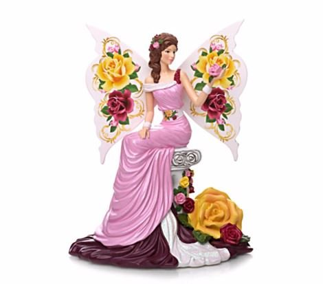 Graceful Blossom Magic Of The Old Country Rose Lady Figurine Collection ()