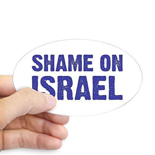 CafePress Shame On Israel Oval Sticker Oval Bumper Sticker, Euro Oval Car Decal