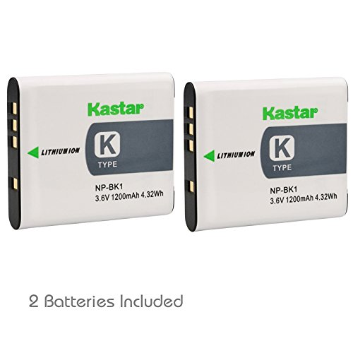 Kastar Battery (2-Pack) for Sony NP-BK1, BC-CSK work with Sony Bloggie MHS-CM5, MHS-PM5, Cyber-shot DSC-S750, DSC-S780, DSC-S950, DSC-S980, DSC-W180, DSC-W190, DSC-W370, Webbie MHS-PM1 Cameras