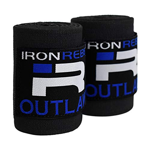 (Iron Rebel Outlaw Wrist Wraps - Lift Safely and Improve Performance with Wrist Support for Powerlifting, Bodybuilding or Training - for Men and Women - 18 inches (Pair))