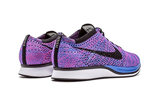 low priced 44aea b0d4e Nike Men s Flyknit Racer, GAME ROYAL BLACK-PINK FLASH, 11 M US