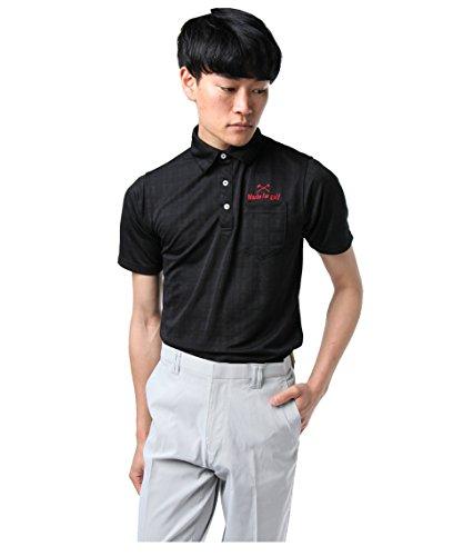 ツアーディビジョン ゴルフウェア ポロシャツ 半袖 チェックダルブラJQ TD220101H09 BK L
