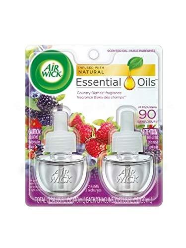 スクランブルロック現実的【Air Wick/エアーウィック】 プラグインオイル詰替えリフィル(2個入り) ワイルドベリーズ Air Wick Scented Oil Twin Refill Wild Berries (2X.67) Oz. [並行輸入品]