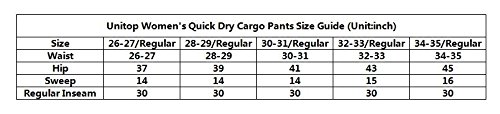 Unitop Women's Quick Dry Lightweight Cargo Pants