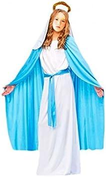 Disfraz Virgen María Niña Infantil para Navidad 7-9 años: Amazon ...