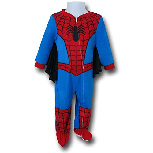 [Spiderman Costume Webbed Kids Romper- 3T] (Spiderman Bodysuit)