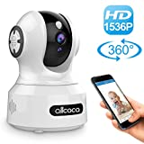 [Update] Baby Camera Monitor,allcaca 1536P Wireless IP Camera Smart Security Camera Pet Camera Monitor with Night Vision Motion Detection Remote Control Pan/Tilt/Zoom 2-Way Audio for Baby/Pet/Elder