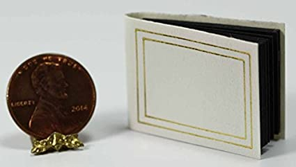 Dollhouse Miniature Red Leather Look Photo Album by Jacqueline/'s Miniatures
