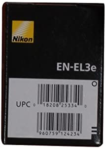 Nikon EN-EL3e Rechargeable Li-Ion Battery for D200, D300, D700 and D80 Digital SLR Cameras - Retail Packaging from Nikon