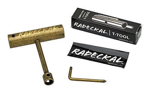 (RADECKAL Compact Pocket Skate Tool- T Tool All in One Skate Tool for Skateboards, Longboards, Mini Skateboards, and Cruisers- Collapses to a Compact Size to Fit in Your Pocket (Gun Barrel))
