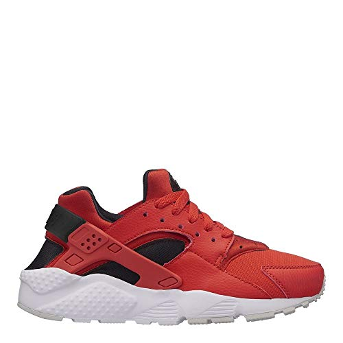Nike Youth Huarache Run GS Textile Habanero Red Black Trainers 5 US