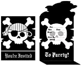 8-Count Birthday Party Invitations, Pirate Parrty