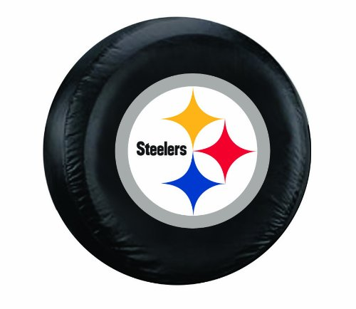 sburgh Steelers Tire Cover, Black, Large ()