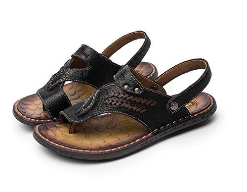 de Chanclas Hombres Leisure Playa Slippers Zapatos Chanclas Para Black Al DANDANJIE Libre Aire Pull Transpirables Sandalias on dwt7q4nxX
