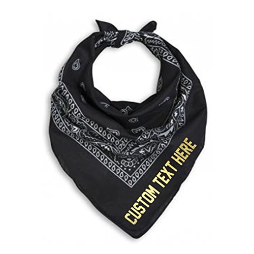 Custom Text Any Color Bandana Neck Scarf for Special Occasion ()