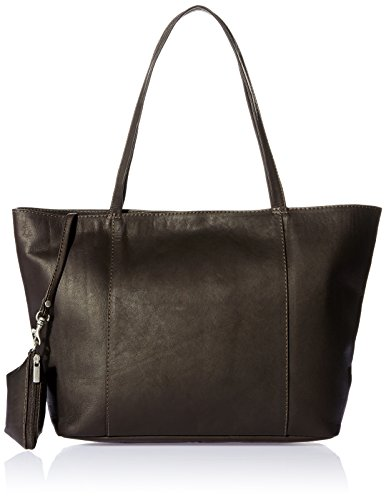 Piel Leather Tote, Chocolate, One Size -