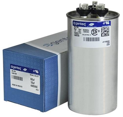 Capacitor round 60/10 uf MFD 440 volt
