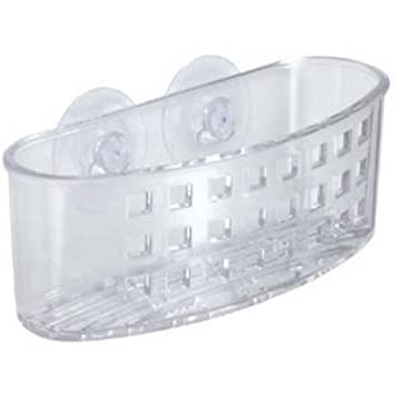 InterDesign Kitchen Sink Suction Holder for Silverware, Flatware, Cutlery - Clear 38800