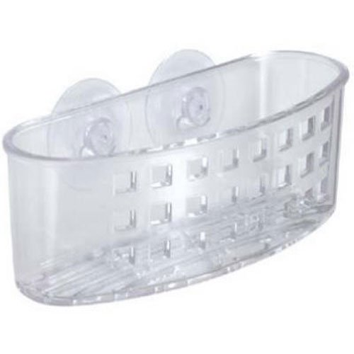 Kitchen Sponge Holder (InterDesign Kitchen Sink Suction Holder for Sponges, Scrubbers, Soap - Clear)