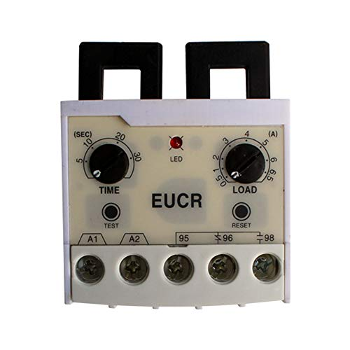 EUCR 0.5-6A Electronic Overload Relay Overload Phase Loss Protection Relay independently Adjustable Starting Trip delay ()