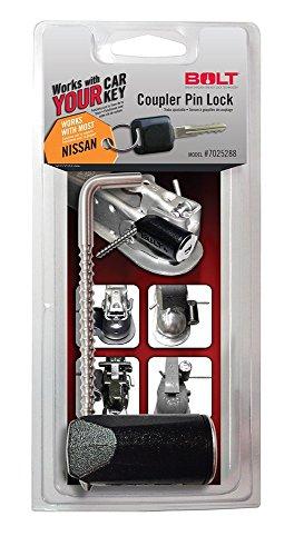 BOLT 7025288 Trailer Coupler Pin Lock for Nissan Keys (Nissan Pin)