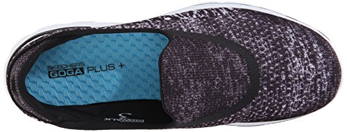 Skechers Performance Dames Go Walk 3 Glinsterende Wandelschoen Zwart / Wit