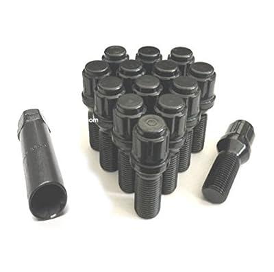 AVNPerformance 14x1.25 Black Spline Tuner Lug Bolts | Wheel Locks | 40mm Shank | Fit Most BMW 4 5 6 7 Series Mini Cooper