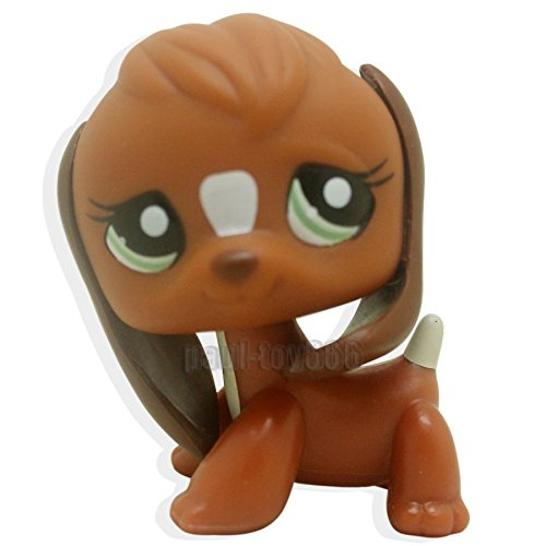 [LHJ Littlest Pet Shop Brown & White Beagle Puppy Dog Green Eyes LPS Toy #1738] (Llama Costume Ebay)