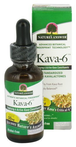 Nature's Answer Kava 6 AF Extract, 1 oz (Pack of 2) by Nature's Answer