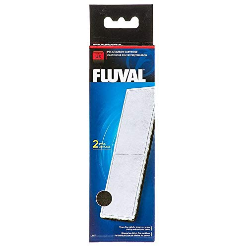 Poly Carbon - Fluval U3 Underwater Poly Carbon Filter Cartridge (2 in Pack)