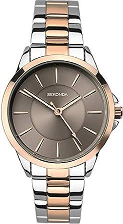 0e3f380c700b SEKONDA Womens Analogue Classic Quartz Watch with Stainless Steel Strap  2456.27: Amazon.co.uk: Watches