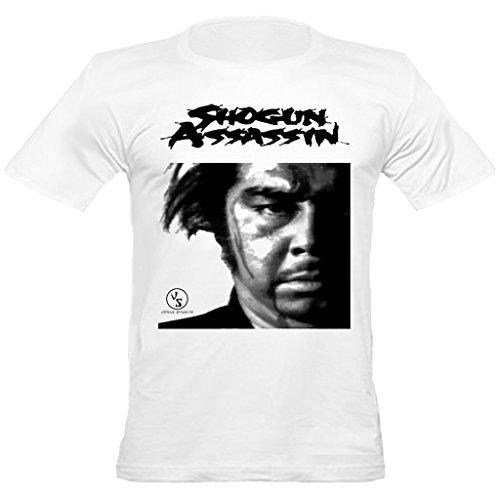 Urban Shaolin Men's Shogun Assassin Inspired Fitted T-Shirt, Small, White