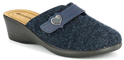 Inblu pantofole ciabatte invernali da donna art. KL-66 avio