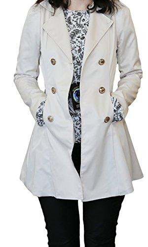 SODACODA Women`s Hourglass Trench Coat (XS-XL) Beige